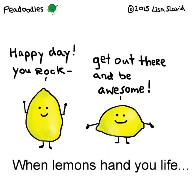 lemons hand you life square template